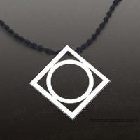 Best New Tocoy Tungsten Tungsten Pendant With Round Inside FA-T3020 wholesale