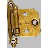 China Hardware Amerock Variable Overlay Burnished Brass hinges 1 pair on sale