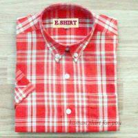 Best Mens Poly Peach Check Shirts wholesale
