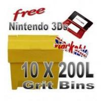 Best Offers with Free Gifts 10x 200 Litre Grit Bins with Free Gift wholesale