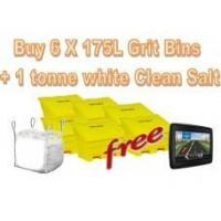 Best Offers with Free Gifts 6x 175 Litre Grit Bins and 1 Tonne White Rock Salt with Free Gift wholesale