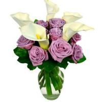 Best Purple Rose and Calla Lily Bouquet wholesale