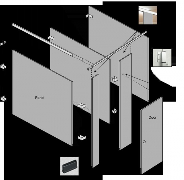 Cheap Products - Toilet Partitions - Solid Plastic Partitions for sale