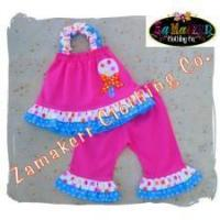 Best Toddler Baby Girl Outfit Birthday In Pink Lollipop Set wholesale