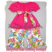 Best Newborn Baby Girl Sunny Floral Peasant Top and Pant Set wholesale
