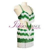 Best Belly Dancing Costume Bra & Belt set Green and White wholesale