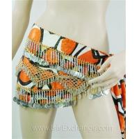 Buy cheap Belly dance Hip Scarf - Tie Dye Orange, Black and Silver from wholesalers