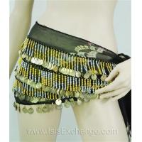 Buy cheap Belly dance Hip Scarf - Tie Dye Black Silver and Gold from wholesalers