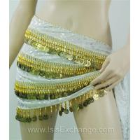 Buy cheap Belly dance Hip Scarf - Tie Dye White Gold and Silver from wholesalers