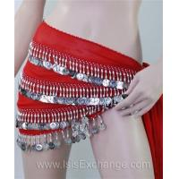 Buy cheap Belly dance Hip Scarf - Red and Silver from wholesalers