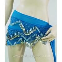 Buy cheap Belly dance Hip Scarf - Sky Blue and Silver from wholesalers