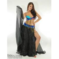 China Blue and Fuchsia Bra and Belt Belly Dance Costume on sale
