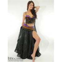 China Purple and Copper Bra and Belt Belly Dance Costume on sale