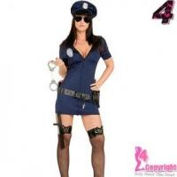 Sexy Costume Factory Supply Wholesale Price Hot Sexy Police Costume For Female