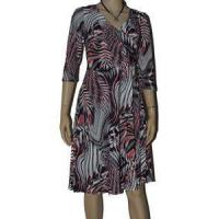 Buy cheap Dresses Plus Size 2X 18/20 Red Black Gray Striped Womens Dresses A-Line Faux Wrap Top from wholesalers