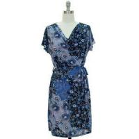Buy cheap Dresses Navy Blue White Floral Womens Size LARGE 12/14 Cowl Top Shift Dress from wholesalers