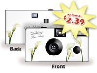 China Wedding Memories Calla Lilies Disposable Camera SPECIAL PURCHASE - Item #SP50407 on sale