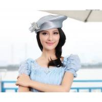 China Women church hat dress hat army shape hat queen character dress hat two colors and Free Shipping on sale