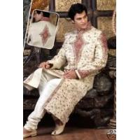 Best Embroidered White And Maroon Sherwani For Man wholesale