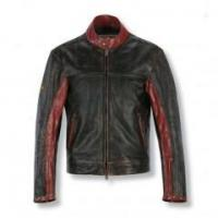 Buy cheap Black And Maroon Colored Cheap Leather Jackets product