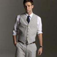 Buy cheap Grey And White Wedding Suit For Man product