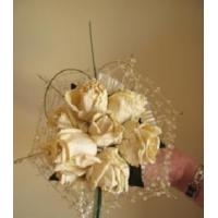 Best Gold Cobweb effect posy of roses. wholesale