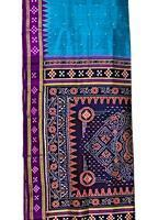 Buy cheap Bright Sky Blue, Purple & Navy Blue Orissa Tussar from wholesalers