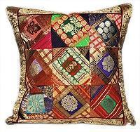 Best Sari Silk Indian Designer Accent Pillow Cushion Cover wholesale