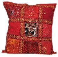 Best Patchwork Beaded Indian Accent Throw Pillow Cushion Cover wholesale