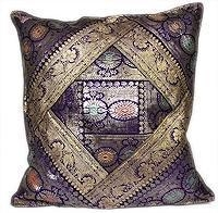 Cheap Sari Silk Indian Designer Accent Pillow Cushion Cover for sale