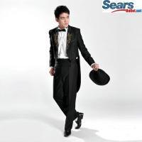China Black mens wedding tuxedos on sale