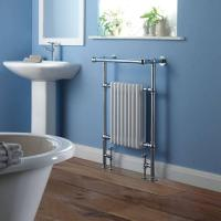 Best BestBathrooms Traditional Brass Heated Towel Radiator 940mm x 635mm (With Stylish Angled Top Rail) wholesale