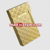 China Golden Lighter S.T.Dupont Unisex Twill Carving on sale
