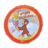 Curious George Party 18 Happy Birthday Foil Balloon