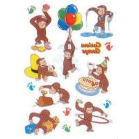 Curious George Party Tattoo Sheets