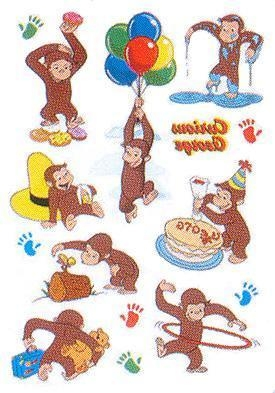 Cheap Curious George Party Tattoo Sheets for sale