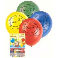 "Best Curious George Party 12"" Balloons 8 Pack wholesale"