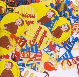 Cheap Curious George Party Printed Confetti for sale