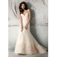 China Cheap A-line Wedding Dresses Online 2011 Sweep Train Design WD14005 on sale
