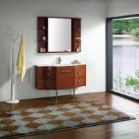 China Artificial marble basin with designed bathroom stroage cabinet on sale