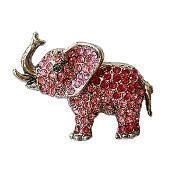 Buy cheap Pink Elephant Trunk Up Pin from wholesalers