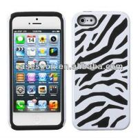 Best Zebra Combo Hybrid Silicone Hard Case Cover For iPhone 5 5 wholesale