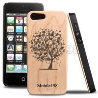 Maple Carved Natural Wood Case Cover for iPhone 5