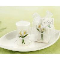 Best Candle Wedding Favors - Calla Lily Elegance Vase Shaped Candle wholesale