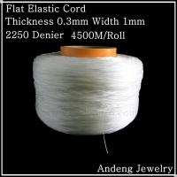 China 4500 Meters Flat Elastic Cord, Crystal Beading Cord, Thickness 0.3mm Width 1mm,1.3kg on sale