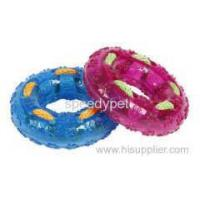 Buy cheap New Fashion Soft Rubber Chew TPR Pet tyre toys with rope from wholesalers
