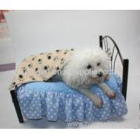 China Cute Pet Dog Blanket Paw Prints Soft Pet Mat Bed on sale