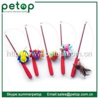 Best Cat Scratcher Telescoping Fishing Rod Spin Feather Wand Cat Teaser wholesale