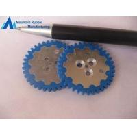 Best Custom Blue Abrasion Resistance Silicone Rubber Gear Wheel rings, Rubber to Metal Bonding wholesale