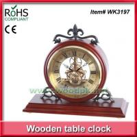 Buy cheap WK3197Plant themed decor style mechanical design wooden desk clock from wholesalers